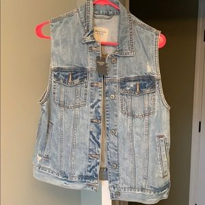 Abercrombie and Fitch Jean Jacket Vest